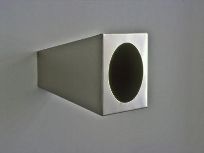 Imu , papir , pigment, rustfritt stål 30 x 30 x 40 cm