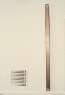 Lang, rustfr. stål , kobbertråd 205 x 8 cm